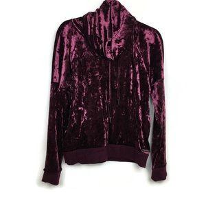 Betsey Johnson Performance Velvet Hoodie Sweater
